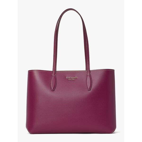 all day large tote, DEEP RASPBERRY, hi-res