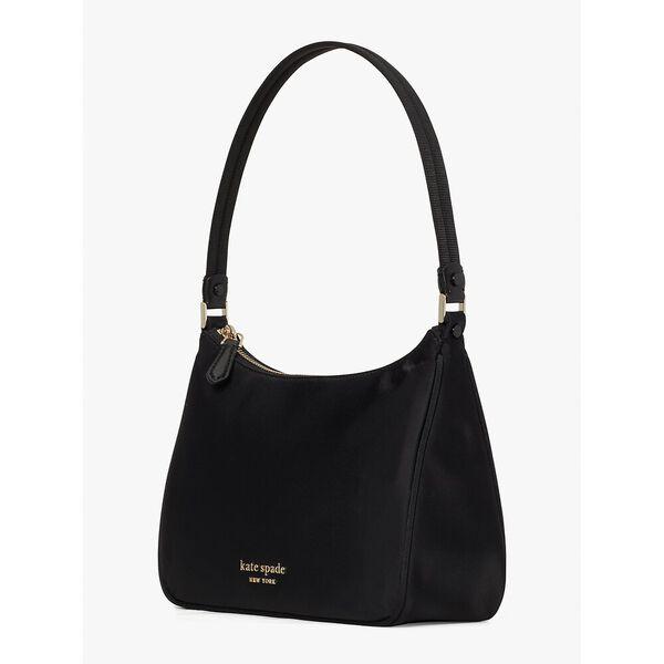 the little better sam nylon small shoulder bag, black, hi-res