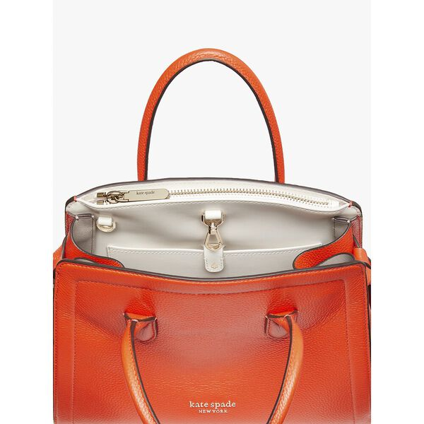 knott medium satchel, tamarillo, hi-res