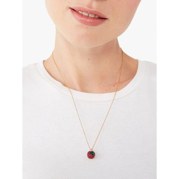 dashing beauty pavé apple pendant, red, hi-res