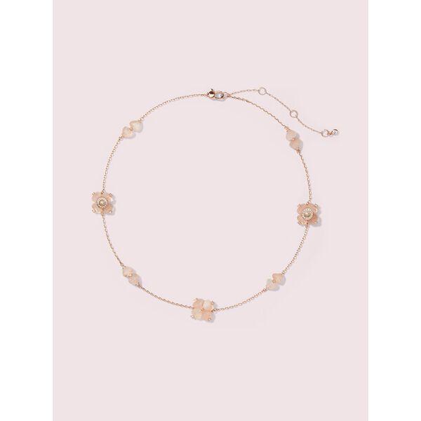 spade flower necklace