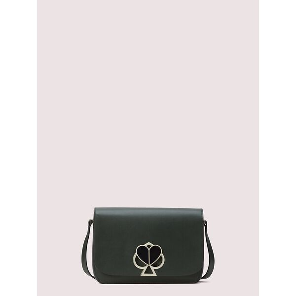 nicola twistlock medium shoulder bag, deep evergreen, hi-res