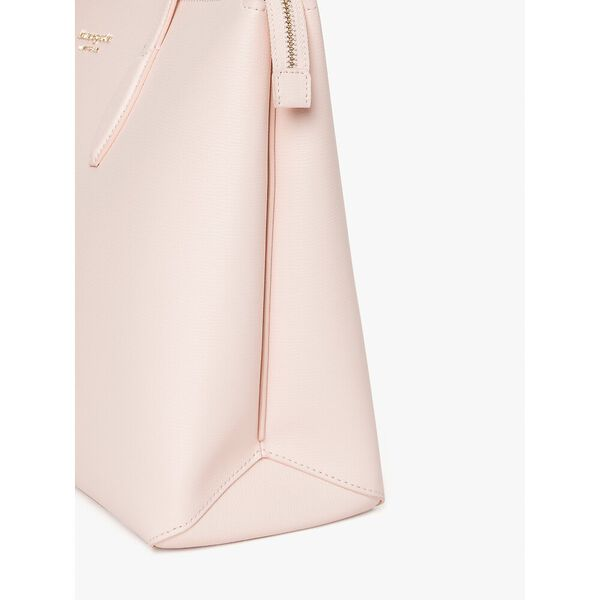 all day large zip-top tote, pink geo, hi-res