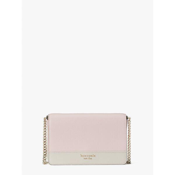 spencer chain wallet, tutu pink/crisp linen, hi-res