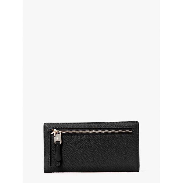roulette slim bifold wallet, black, hi-res