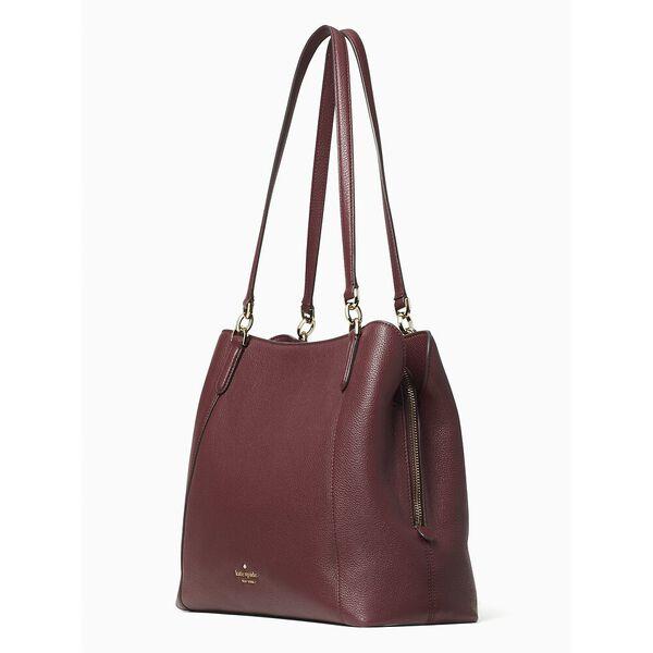 jackson medium triple compartment shoulder bag, cherry wood, hi-res