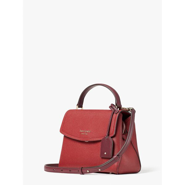thompson colorblocked small top-handle bag, red currant multi, hi-res