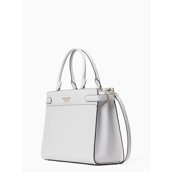 staci large satchel, white dove, hi-res