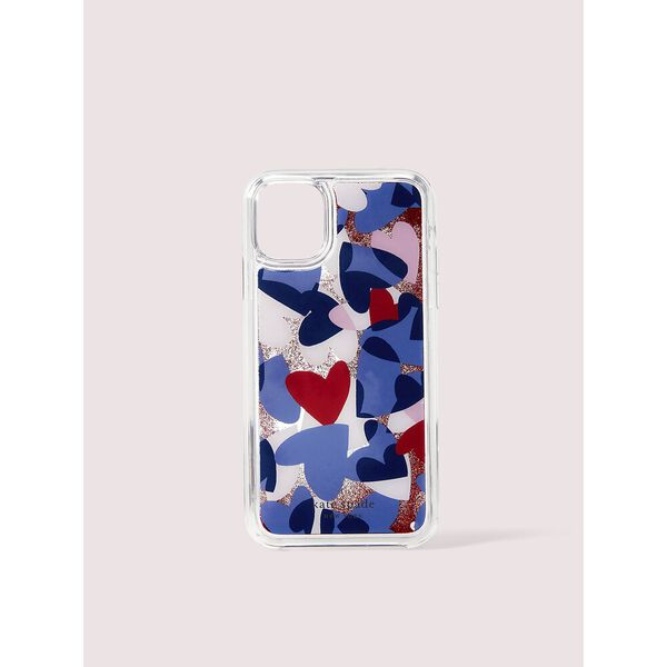 heart party liquid glitter iphone 11 pro case