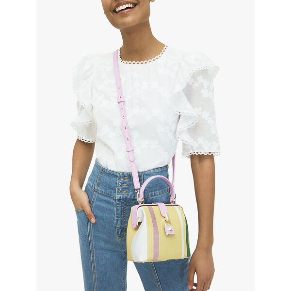remedy stripe small top-handle bag, YELLOW MULTI, hi-res