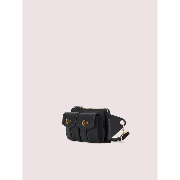 cargo nylon medium belt bag, black, hi-res