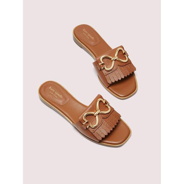 positano spade chain slide sandals, hot cider, hi-res
