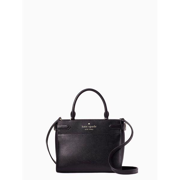 staci small satchel, black, hi-res