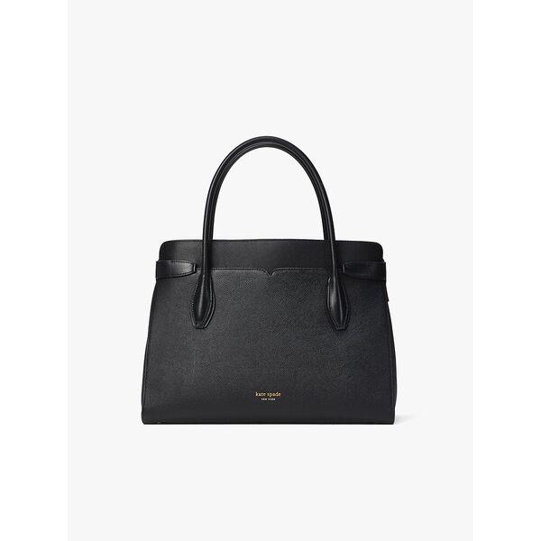 toujour large satchel, black, hi-res