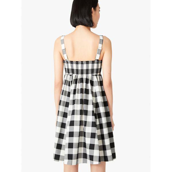 gingham al fresco dress, black, hi-res