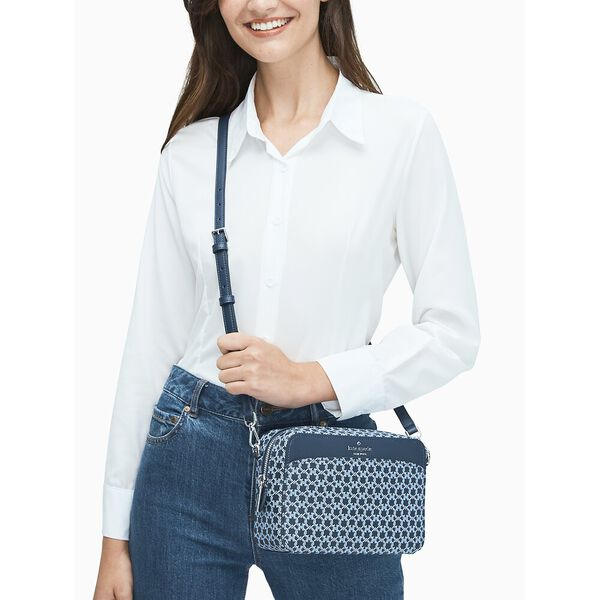 spade link camera bag, blue multi, hi-res