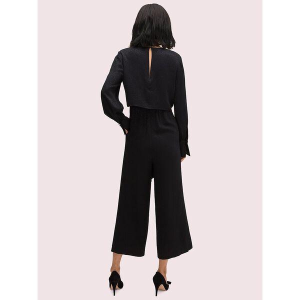 tie front jumpsuit, black, hi-res