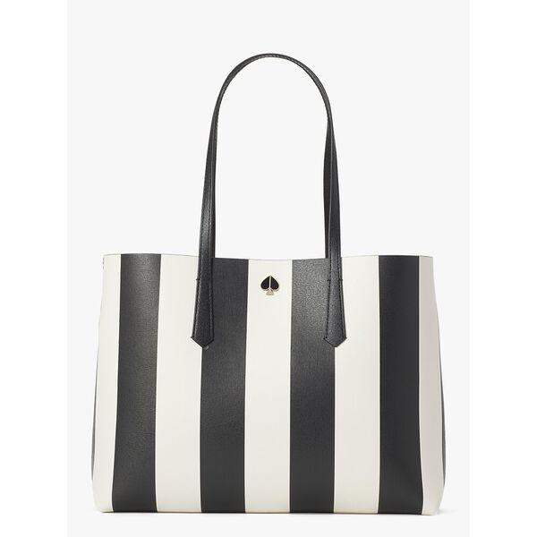 molly stripe large tote, BLACK MULTI, hi-res