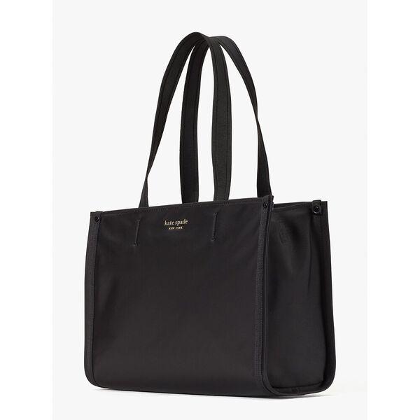 the little better sam nylon medium tote, black, hi-res
