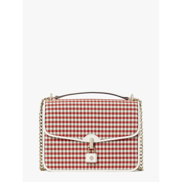 locket plaid large flap shoulder bag