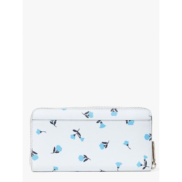 spencer dainty bloom zip-around continental wallet, parchment multi, hi-res