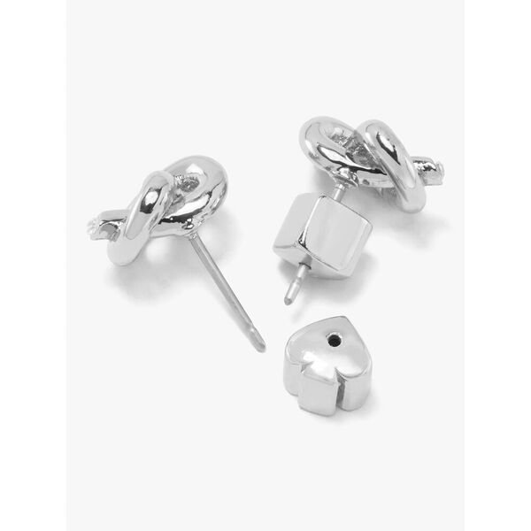 loves me knot studs, silver, hi-res