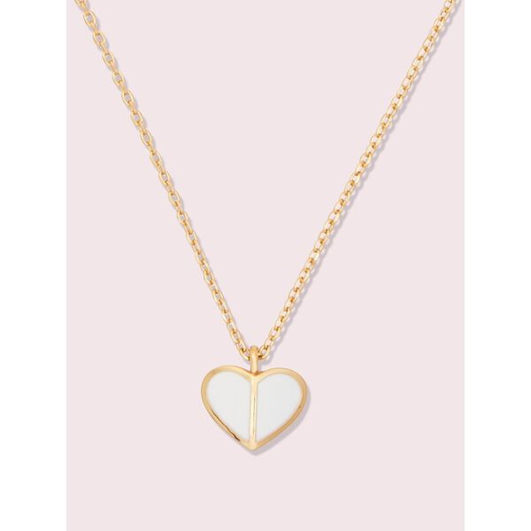 heritage spade enamel heart mini pendant