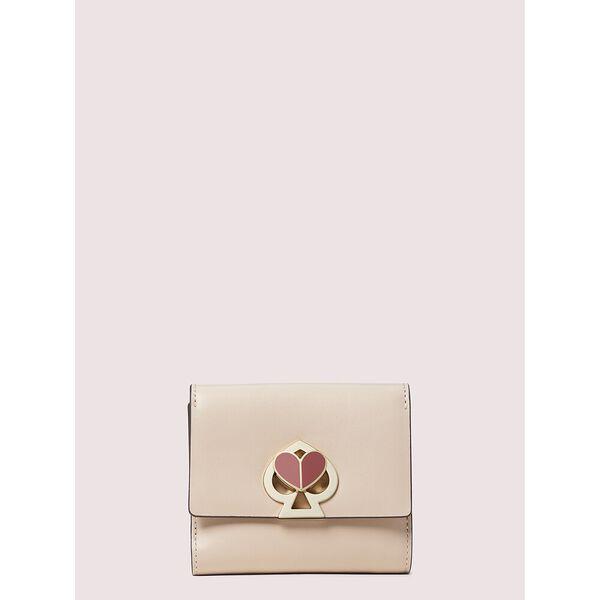 nicola twistlock bifold flap wallet, BLUSH, hi-res