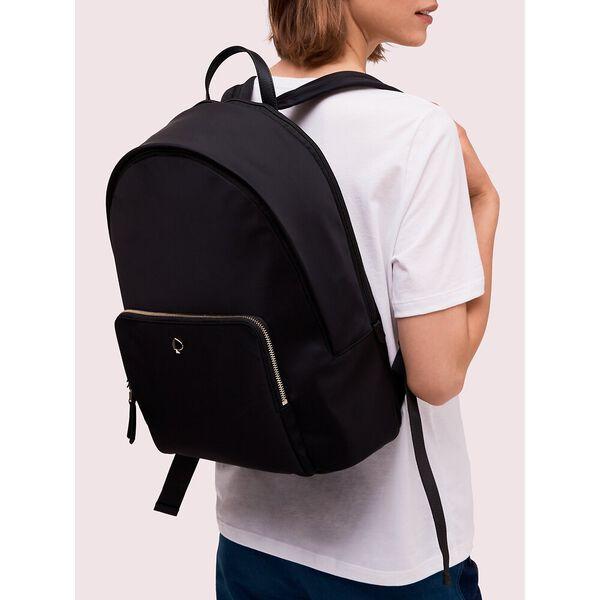 taylor universal laptop backpack, black, hi-res