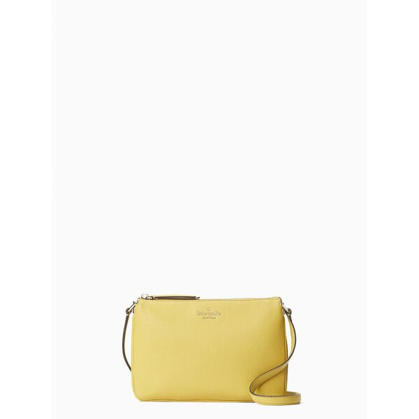 jackson triple gusset crossbody, golden yarrow, hi-res