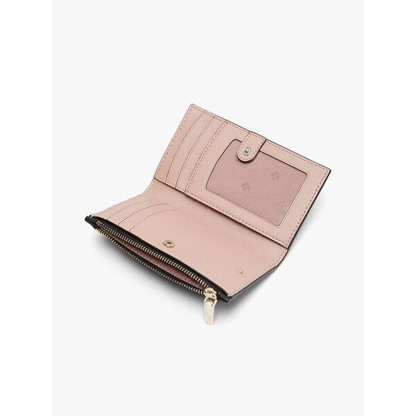 spencer small slim bifold wallet, BLACK, hi-res