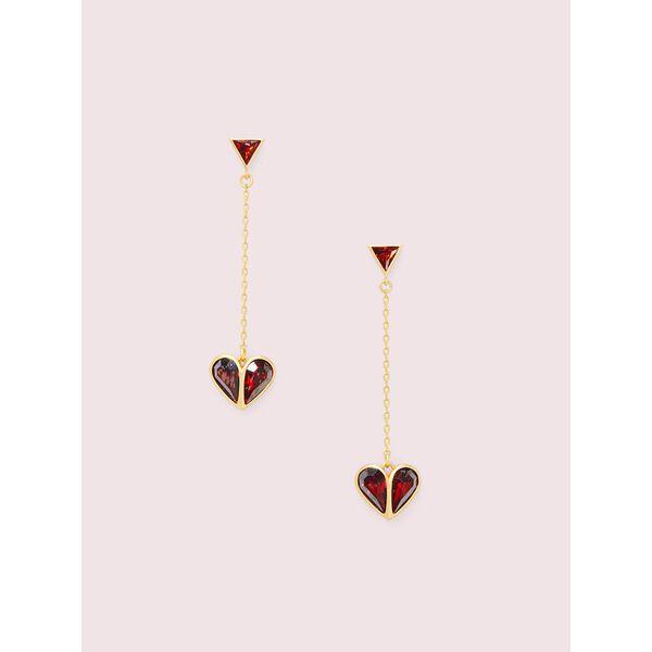 rock solid stone heart drop earrings
