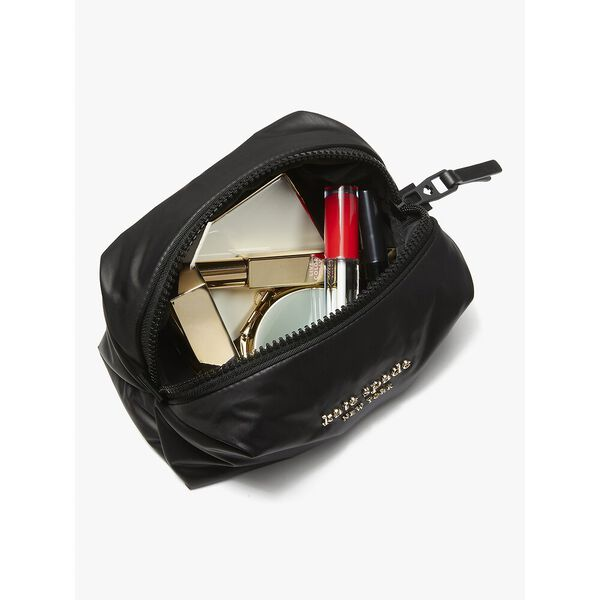 everything puffy plaid medium cosmetic case, multi, hi-res