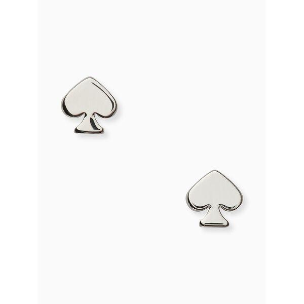 signature spade mini studs, silver, hi-res