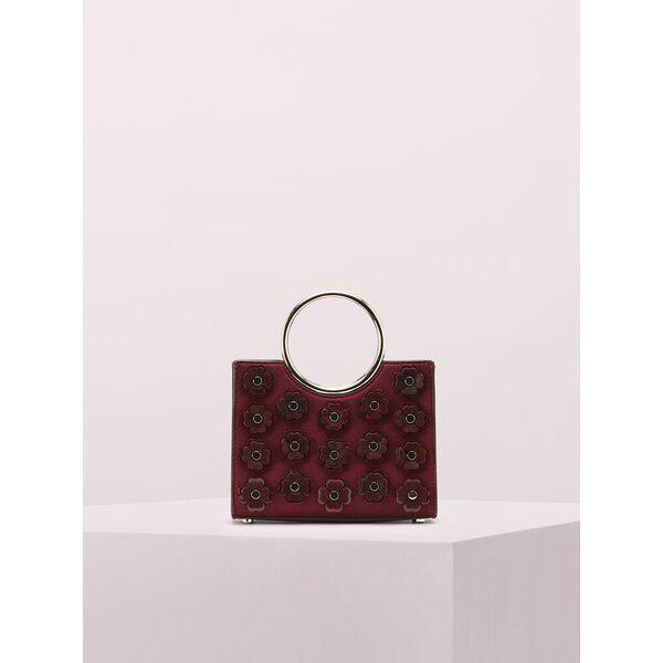 sam flower applique bracelet mini satchel, cherrywood, hi-res