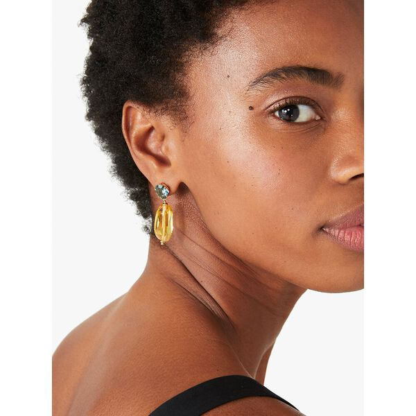 treasure trove drop earrings, yellow multi, hi-res