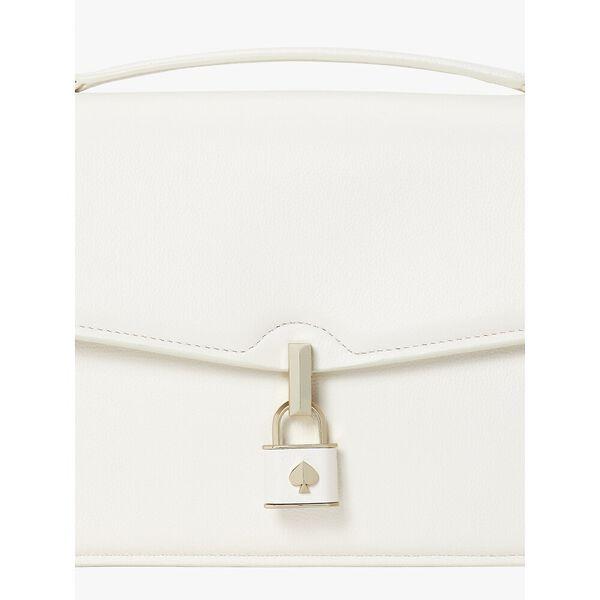 locket large flap shoulder bag, parchment, hi-res
