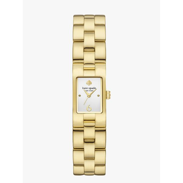 brookville gold-tone stainless steel watch, gold, hi-res