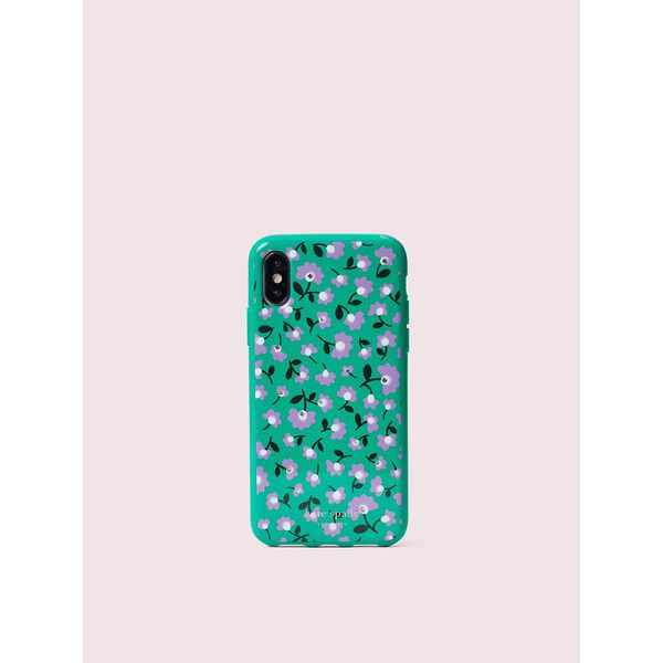 jeweled party floral iphone x & xs case, green multi, hi-res
