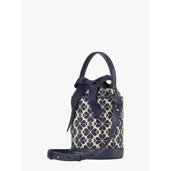 picnic spade flower jacquard small bucket bag, blue multi, hi-res