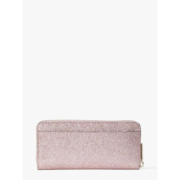 spencer glitter slim continental wallet, rose gold, hi-res