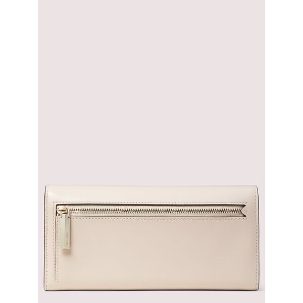 nicola twistlock flap continental wallet, BLUSH, hi-res