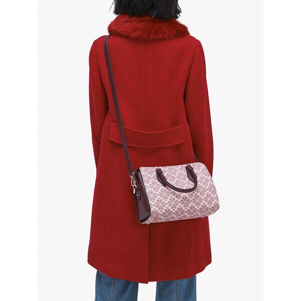 spade flower coated canvas casey medium satchel, PINK MULTI, hi-res