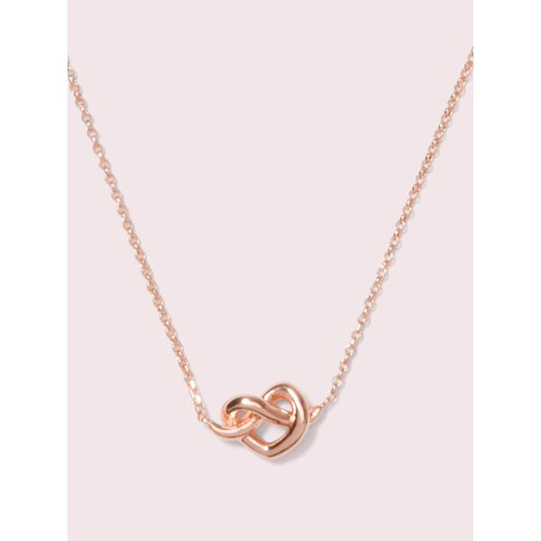 loves me knot mini pendant, rose gold, hi-res