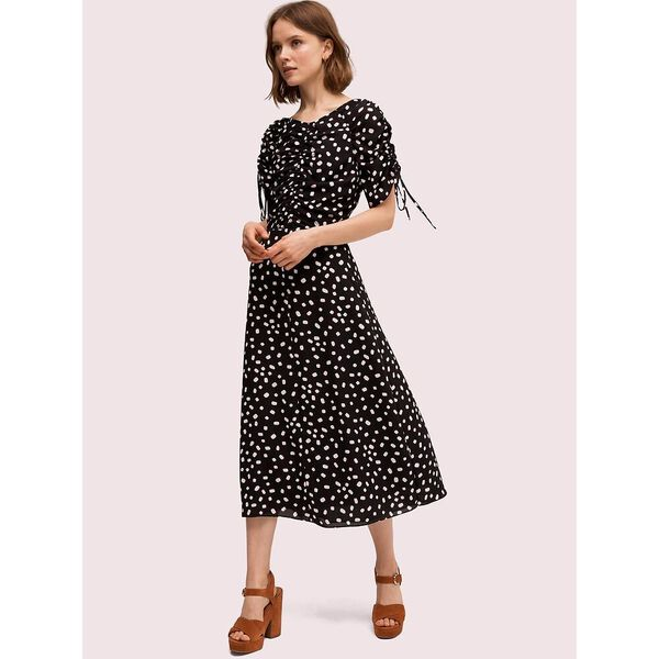 mallow dot midi dress