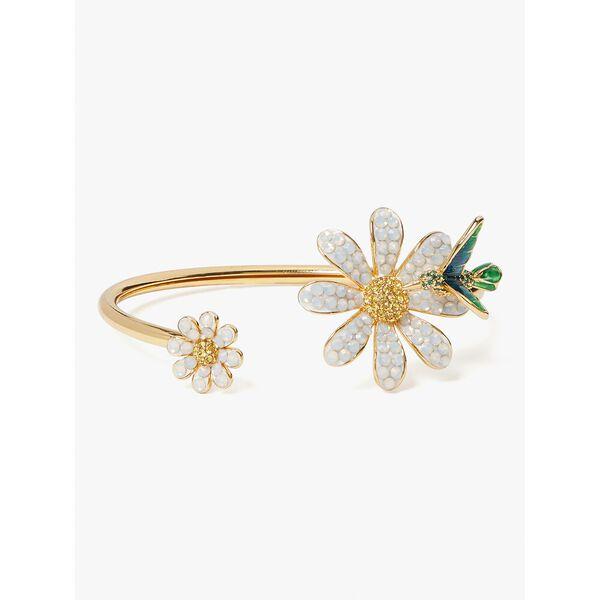 dazzling daisy flex cuff, opal, hi-res