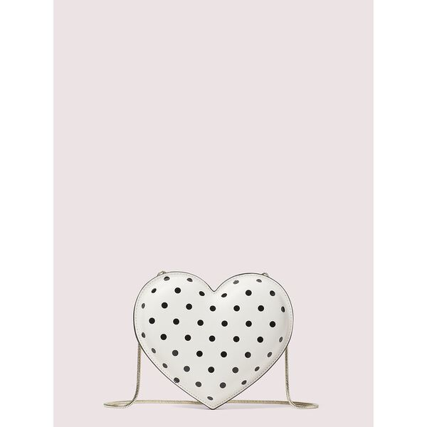 3d cabana dot heart crossbody