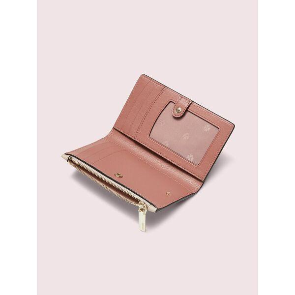 spencer small slim bifold wallet, WARM BEIGE/BLACK, hi-res