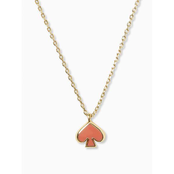 everyday spade enamel mini pendant, geranium, hi-res