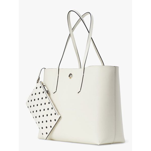 molly cabana dot pop large tote, parchment multi, hi-res